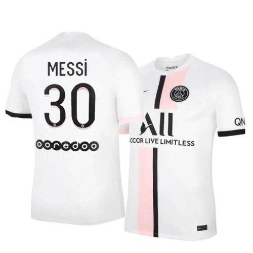חליפת כדורגל ילדים  מסי  פאריס סן זרמן לבנה  (כולל מכנס)