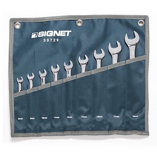 """סט מפתחות רינג פתוח 8-19 מ""""מ 9 י""""ח SIGNET"""
