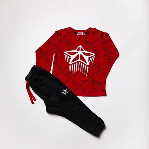 חליפת בנים טריקו כוכב אדומה