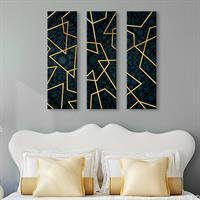 שלישיית מדבקות/עץ לקיר קווי זהב | מדבקות קיר | מדבקות קיר לסלון | מדבקות קיר מעוצבות | מדבקות ויניל