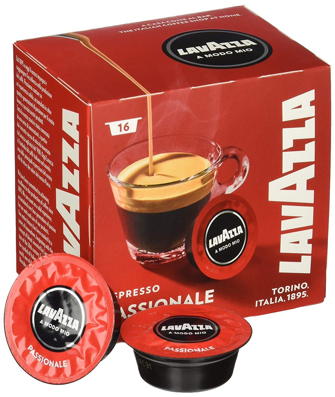 16 קפסולות קפה LAVAZZA A MODO MIO אורגינל תערובת Passionale- אדום