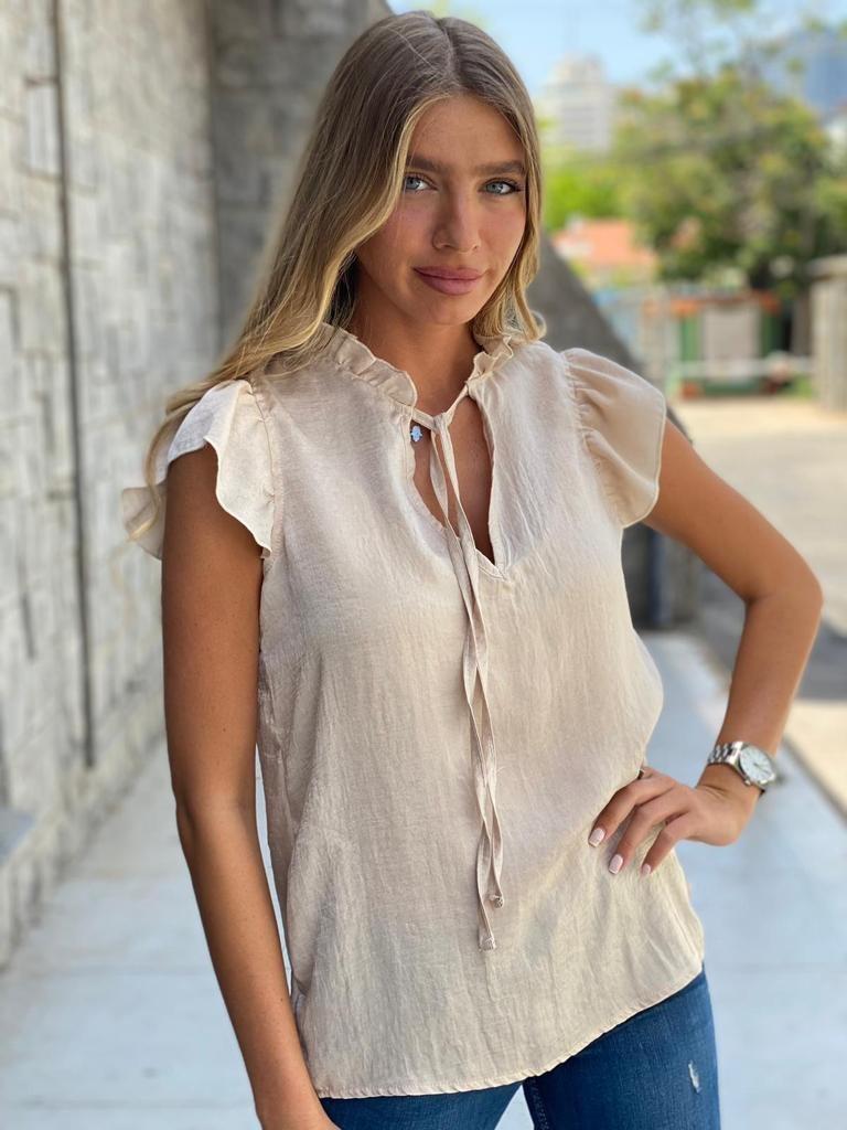 חולצת ברצלונה בז' THOMAS