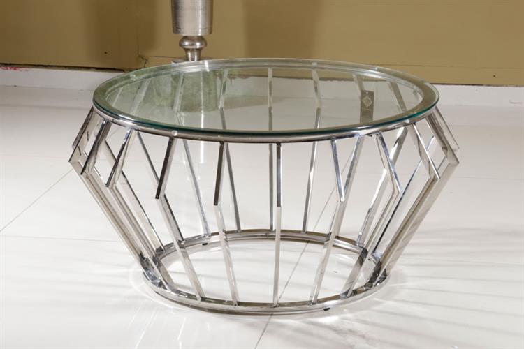 שולחן ניקל silver  מפתח הפריט: 191415  מידות: 80X80X45