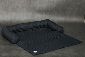 כיסוי ספה- L-XL אפור כהה