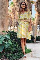 שמלת בוהו סנטוריני פרנזים