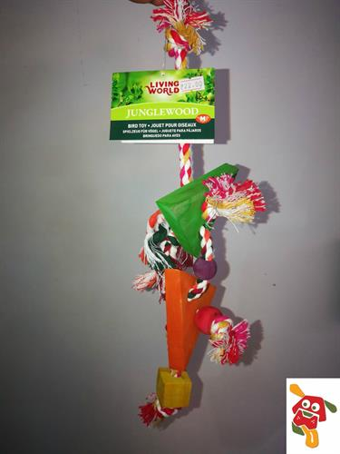 צעצוע לתוכי בינוני עד גדול חבל עם עץ משולשים