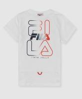 FILA חליפה לבנה לוגו אדום מידות 2-16