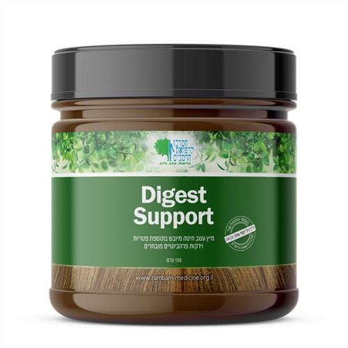 Digest Support - מיץ עשב חיטה + תמציות ירקות פרה-ביוטיים