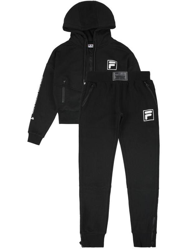 Fila חליפת פוטר שחור כסוף ריצרצ בנות מידות 2-8