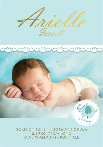 תעודת לידה- בייבי מנטה