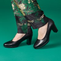 נעל עקב קלרמון - שחור