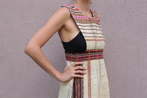שמלת סרפן אתנית וינטג' - רקמה מיוחדת מידה S
