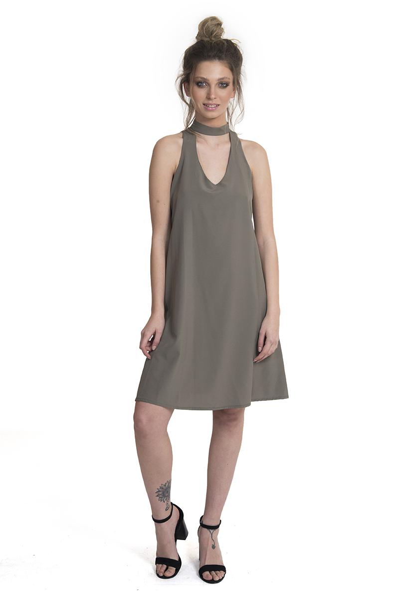 שמלה אליסון זית