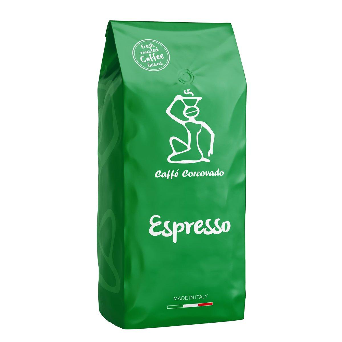 """פולי קפה 1 ק""""ג Caffe Corcovado Espresso"""