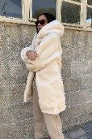 מעיל פלאפי דמוי פרווה