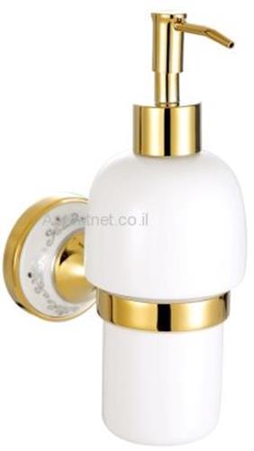 דיספנסר לסבון נוזלי דגם D מוזהב מבריק