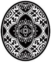 שטיחון ומדבקה לאסלה נובו שחור לבן דגם 232