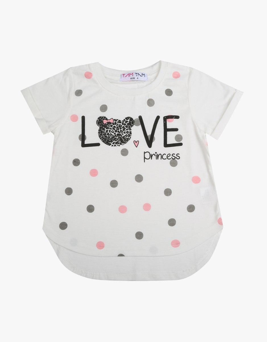 חולצה בנות טריקו  LOVE דובי