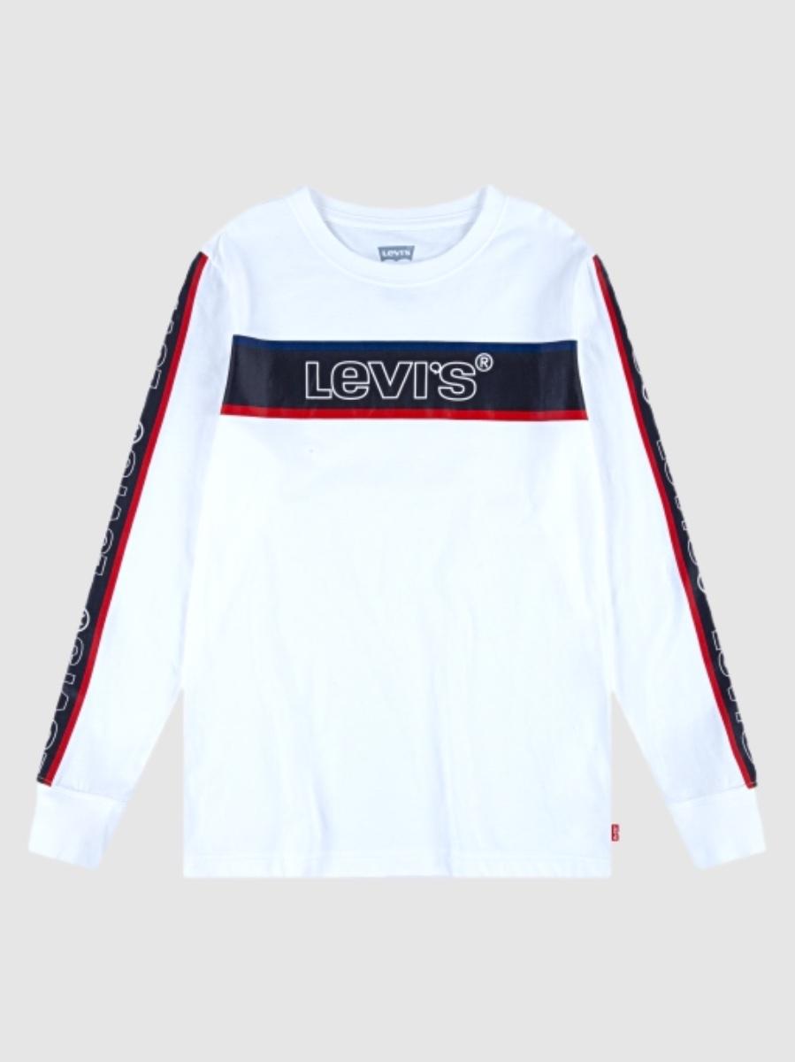 Levis טישרט לבנה לוגו ביד מידות 1-13 שנים