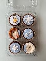 מארז מאפינס שוקולד, דמויות Frozen - ללא קמח חיטה