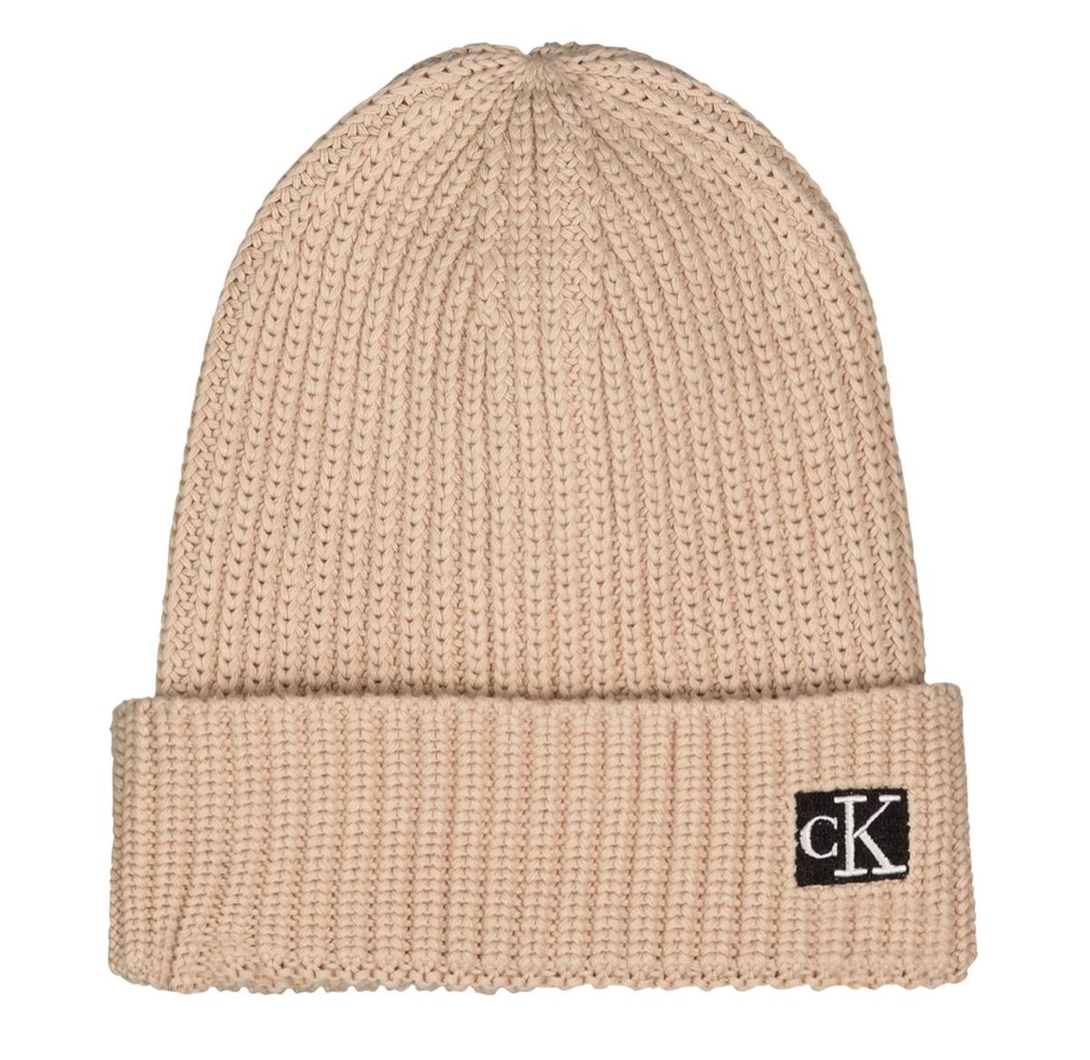 CK כובע סריג בז