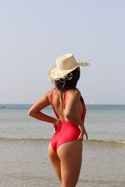 בגד ים סיקסטיז - אדום