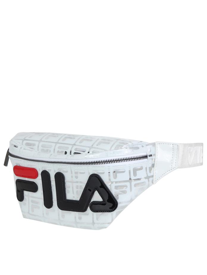 פאוץ' FILA שקוף לבן מודפס