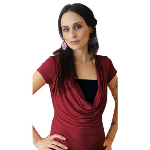 Classic Dark Red Summer Nursing Top