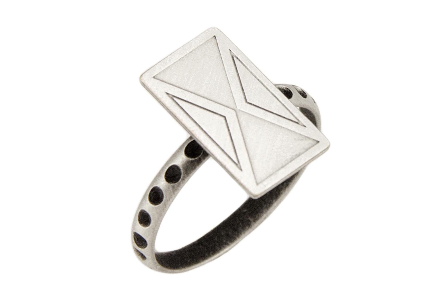 טבעת לונה כסף מט