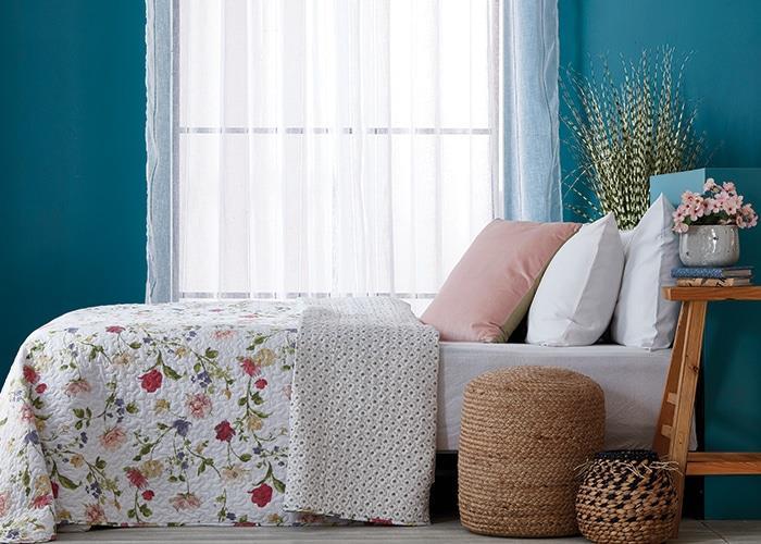כיסוי מיטה יחיד  דגם פרובנס