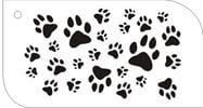 עקבות של כלב / חתול / חייה  [t006] - שבלונות איכותיות tra-fa-ret stencils