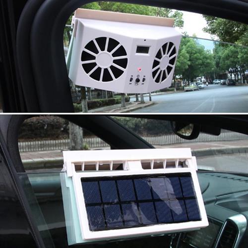 ונטה סולרית כפולה לקירור, צינון והורדת טמפרטורה לרכב חונה