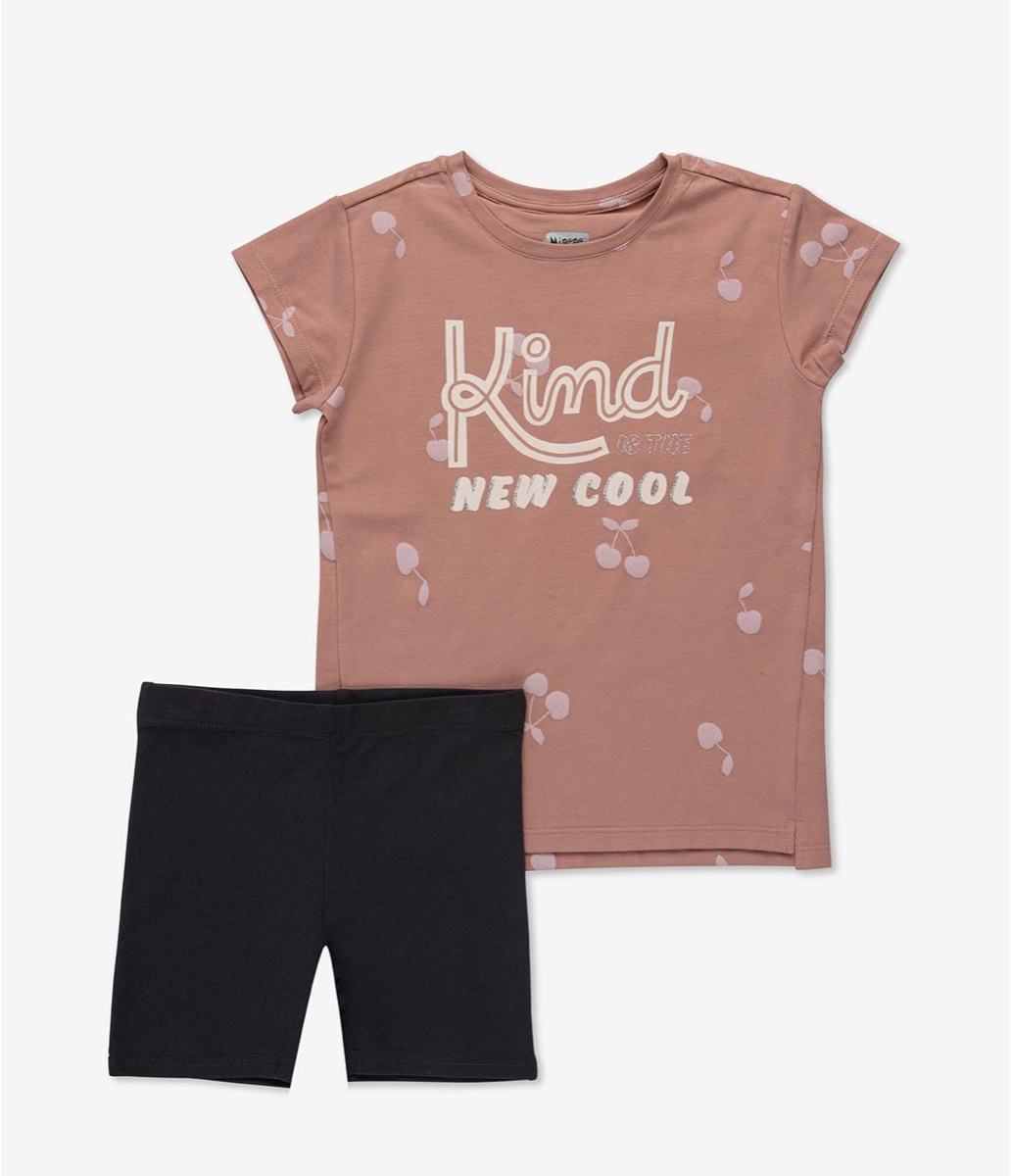 MINENE סט חולצה ומכנסיים דובדבן מידות 2-7