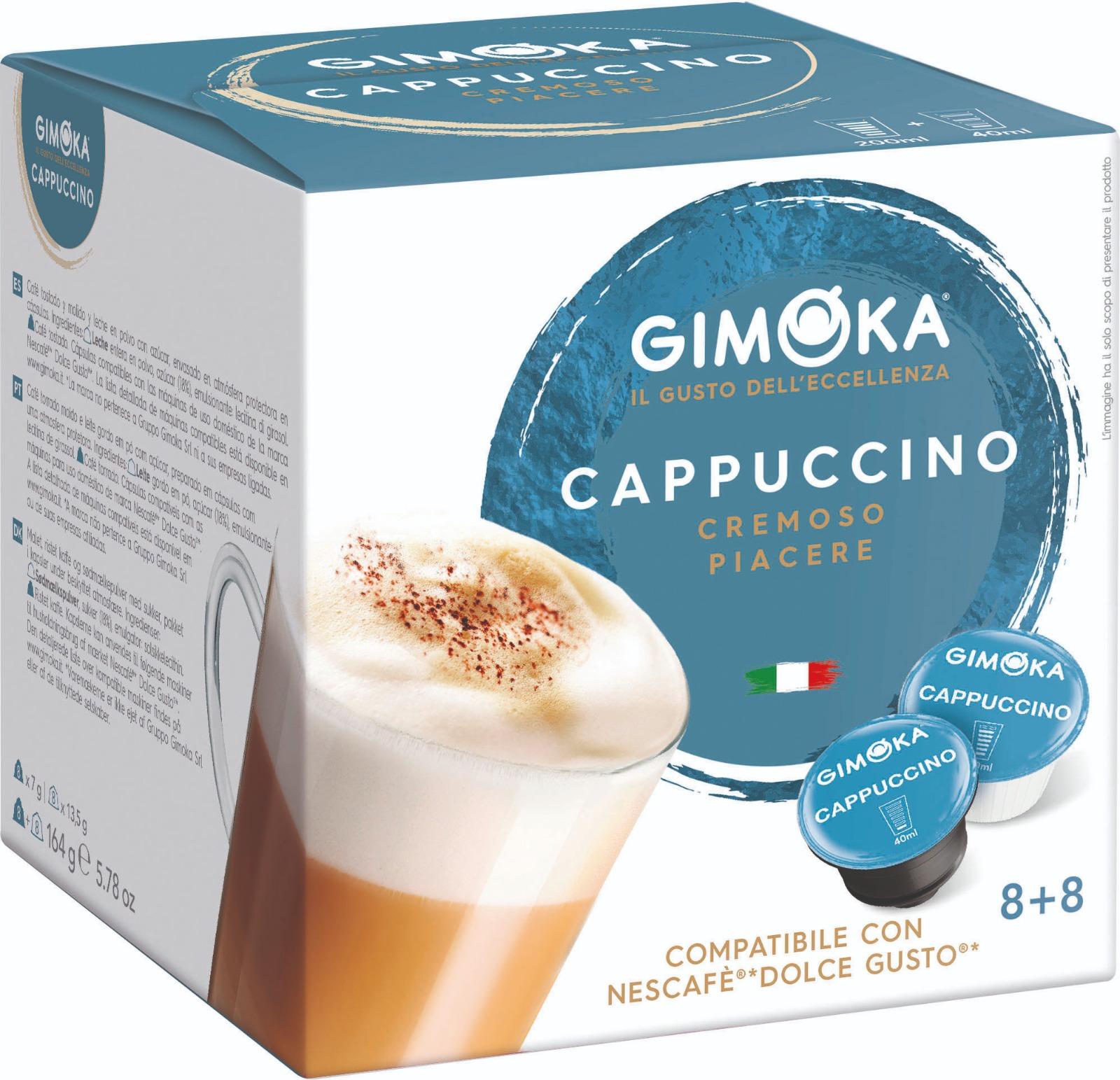 16 קפסולות איטלקיות תואמות דולצה גוסטו Gimoka Espresso cappuccino Dolce Gusto