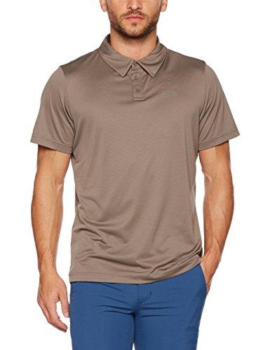 חולצה מנדפת זיעה נורט פייס מדגם The North Face men tanken polo falcon brown