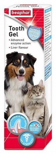 משחת שיניים לכלבים וחתולים ביהפר טעם כבד ג'ל ללא צורך בצחצוח 100 גר'