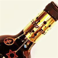 תכשיט לבקבוק יין- שבת שלום