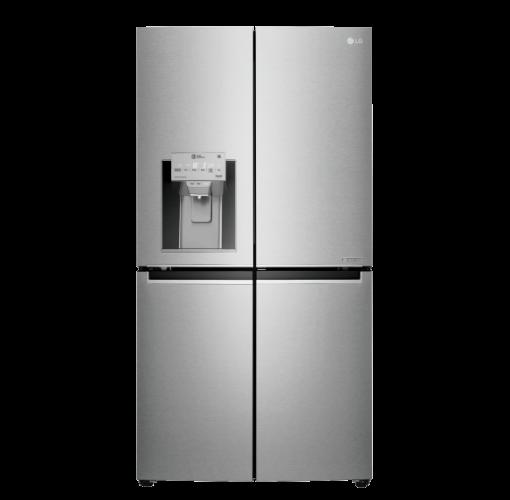 מקרר 4 דלתות 837 ליטר עם קיוסק נירוסטה L.G מסדרת היוקרה Door In Door דגם GRJ910SDID