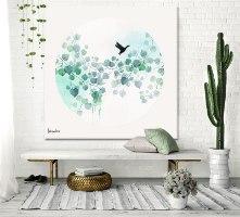 אומנות לבית צבעי מים טורקיז