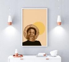 הדפס ציור נייר - Love