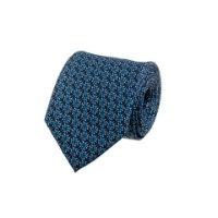 עניבה בהדפס פרח טורקיז על מצע אפור