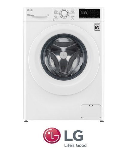"LG מכונת כביסה 8 ק""ג לבן דגם F1608WD"