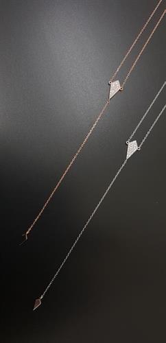 שרשרת עניבה מעויין - רוזגולד