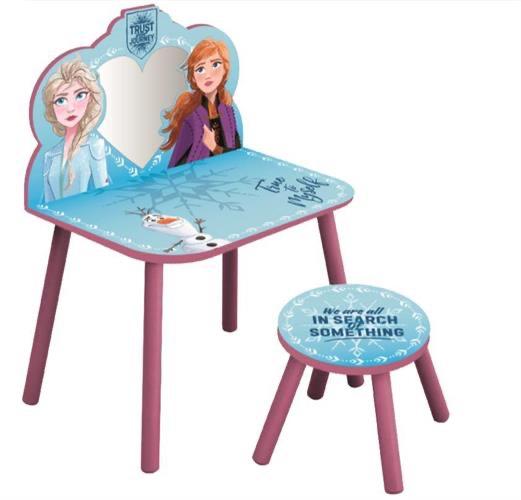 שולחן איפור מעץ אנה ואלזה