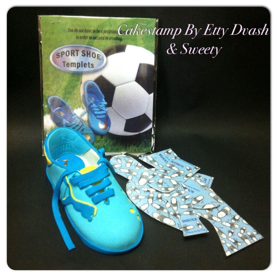פריסה לבניית נעל ספורט מבצק סוכר