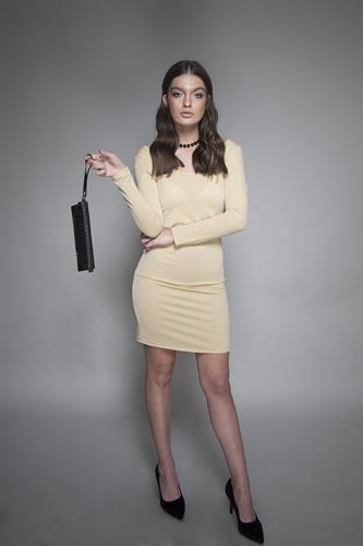 שמלה קארי זהב