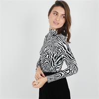 חוולצת גולף פרינט זברה