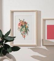 פרחים- הדפס ציור על קנבס
