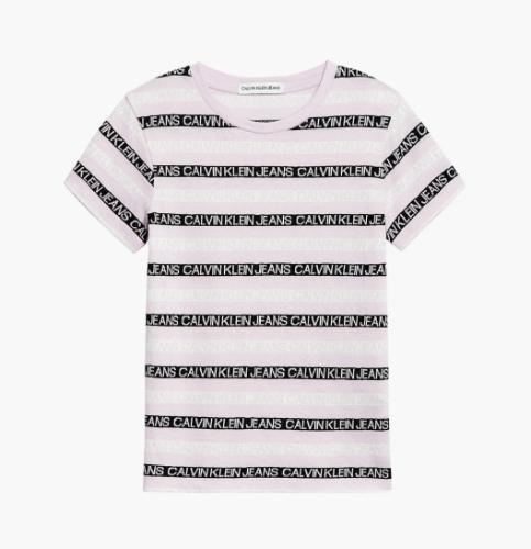 חולצת פסים ורודה CALVIN KLIEN - מידות 4-16