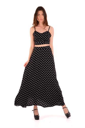 חצאית מוריה שחור לבן